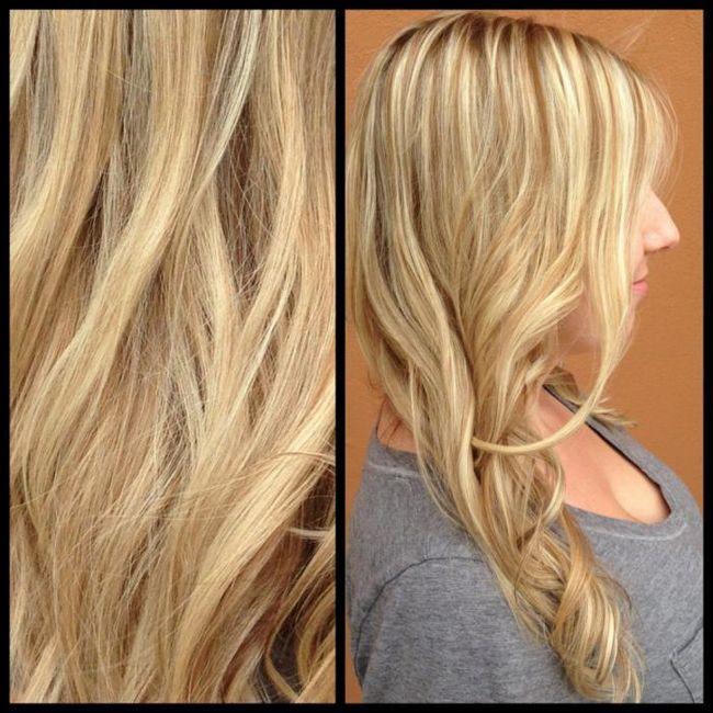 Зворотне мелірування на світле волосся