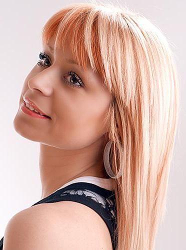 Руде мелірування на світле волосся