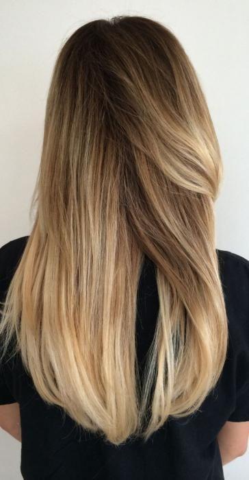 Коричневе мелірування на світле волосся