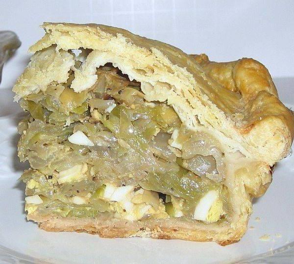 пиріг з капустою і яйцем