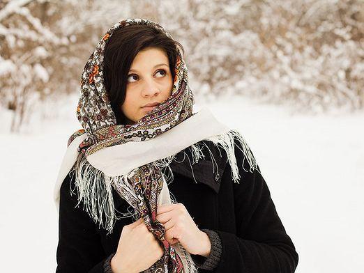 Платки павлопосадские: как носить?