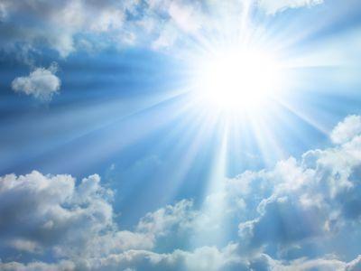 Почему небо голубое? потому, что у земли есть атмосфера