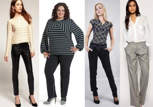 Подбор женских брюк по фигуре