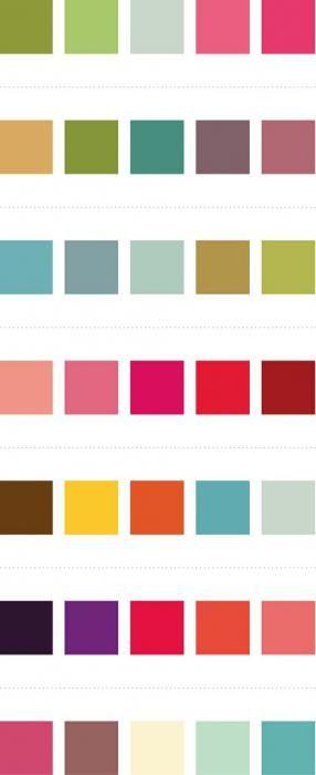 Таблиця поєднання кольорів в одязі
