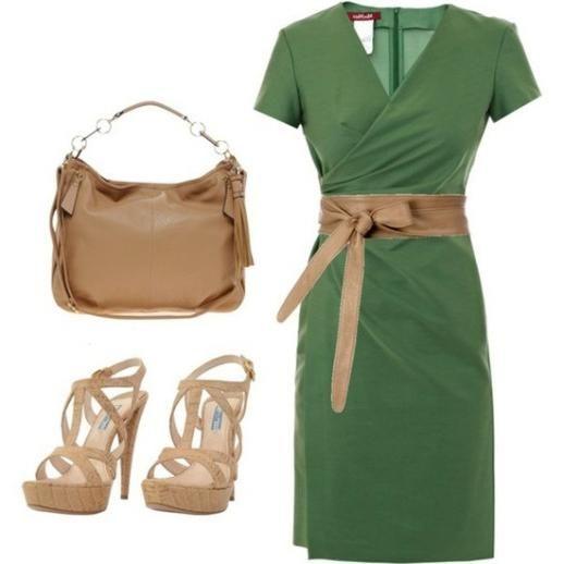 Поєднання зеленого кольору в одязі
