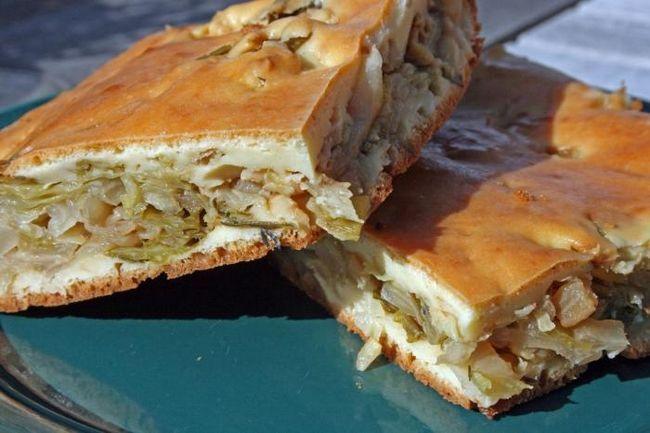рецепт пирога з капустою