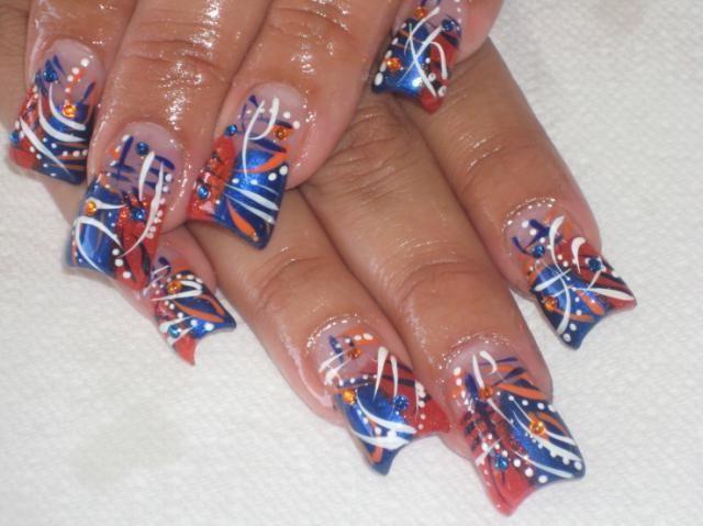розпис нігтів акриловими фарбами
