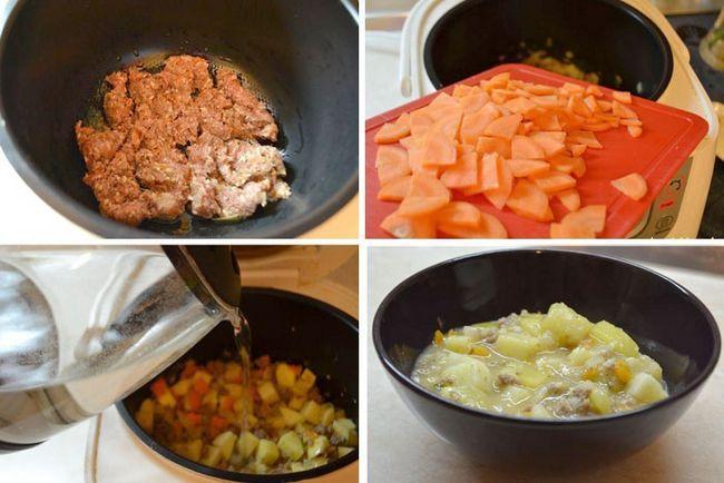 Приготування овочів з фаршем