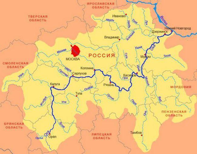 ріки росії