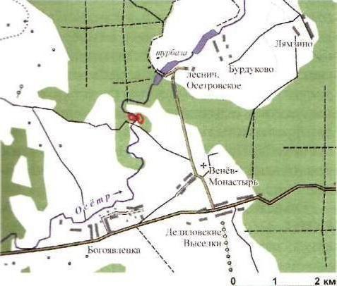 річка осетер на мапі