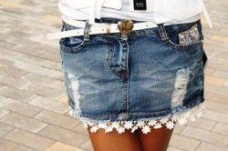 з чим носити джинсову спідницю