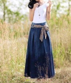 З чим носити джинсову спідницю?