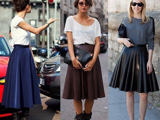 С чем носить юбку-солнце?