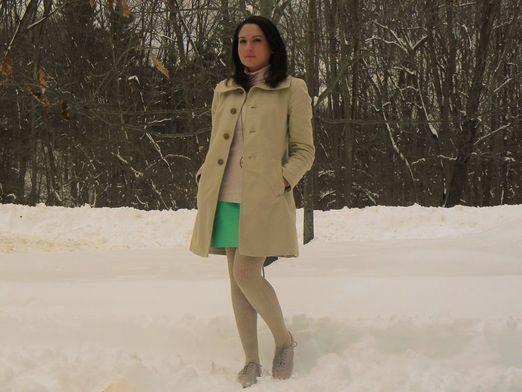 С чем носить юбку зимой?