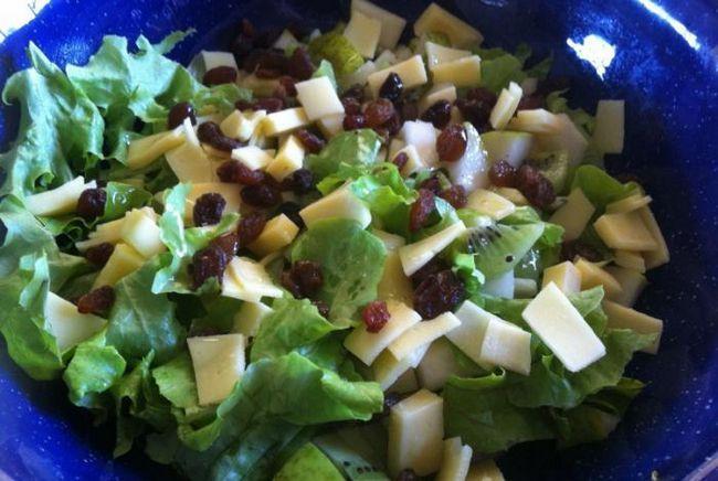 салат смарагдовий з ківі