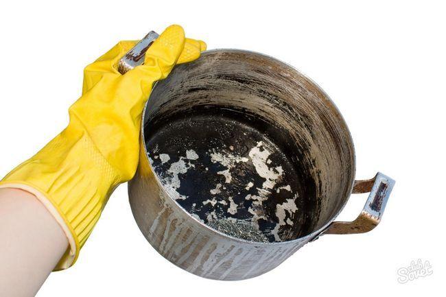 Сгорела кастрюля, как очистить
