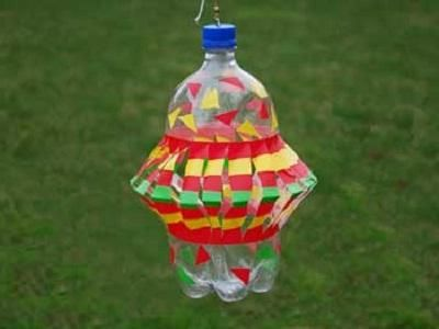 Вертушка из пластиковой бутылки – необычное украшение любого дачного участка!
