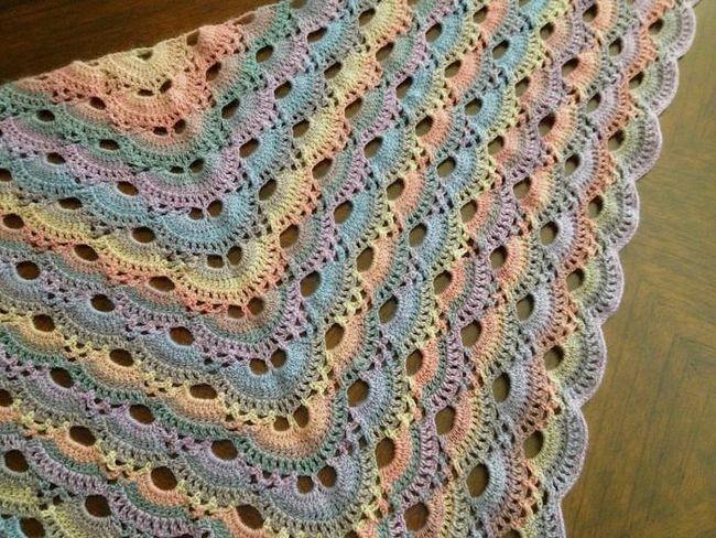 схеми в'язання гачком шалей