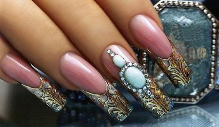 рідкий камінь на нігтях технологія